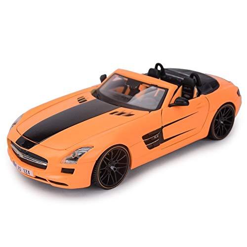 LXLN Skala 1:24 Gebraucht Für Mercedes Für Benz SLS AMG Roadster Sportwagen Legierung Die-Cast-Fahrzeuge Modell...