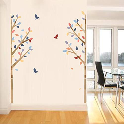 TAOYUE 3D Vogel Vliegen en bomen Muursticker voor Woonkamer Kinderen Muursticker Kwekerij Slaapkamer Decor Poster Mural