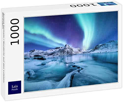 Puzzle Aurora Boreal / Aurora Boreal en Las Islas Lofoten, Noruega 1000 Piezas