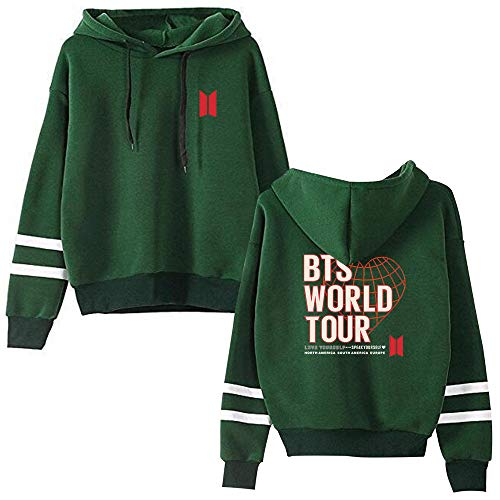 Enjoyyourlife Kpop BTS Hoodies Sweatshirt Wereld Tour Gedrukt Pullover College Jumper Sweater