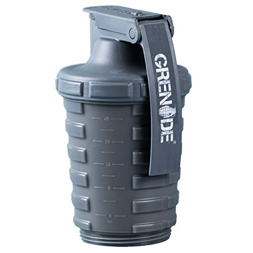 Grenade Shaker Bottle | Protein Blender Powder Storage Capsule Storage | 20oz Bottle | BPA Free...