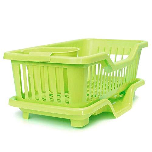 Afdruiprekken Dish/Bowl/Kop/Lepel/vork Drainer droogrek Wassen Holder sorteren Basket 4-kleuren Keuken Storage Rack Geschikt for thuis keuken bowl rack (Color : Green, Size : 44.5x24x18CM)