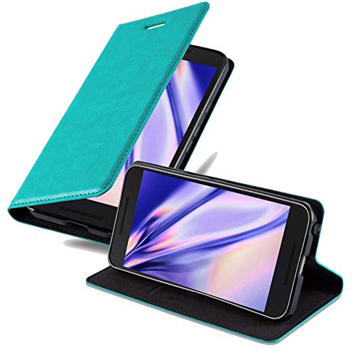 Cadorabo Funda Libro para LG Nexus 5X en Turquesa Petrol - Cubierta Proteccíon con Cierre Magnético, Tarjetero y Función de Suporte - Etui Case Cover Carcasa
