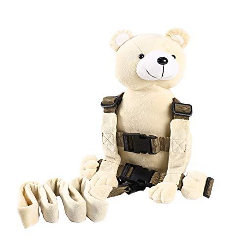 Berhapy 2 in 1 Monkey Toddler Safety Harness Backpack Children's Walking Leash Strap (super soft bear)