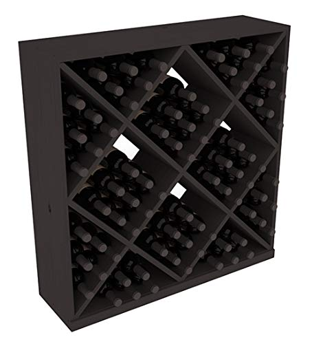 Wine Racks America Pine 82 Bottle Solid Diamond Cube. Unstained