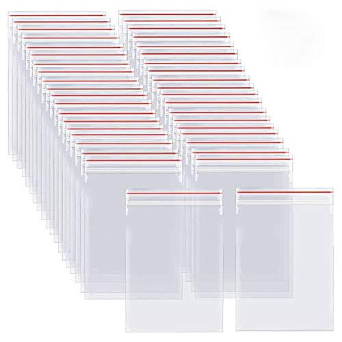 JKGHK 100 pezzi di 35×45cm spessore 4 mil (0,1 mm) sacchetti di plastica con cerniera richiudibile Trasparente con Chiusura a cerniera,28 * 38cm