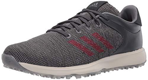 adidas Men's S2G Golf Shoe, Grey Three/Grey Four/Collegiate Burgundy, 7 Medium US