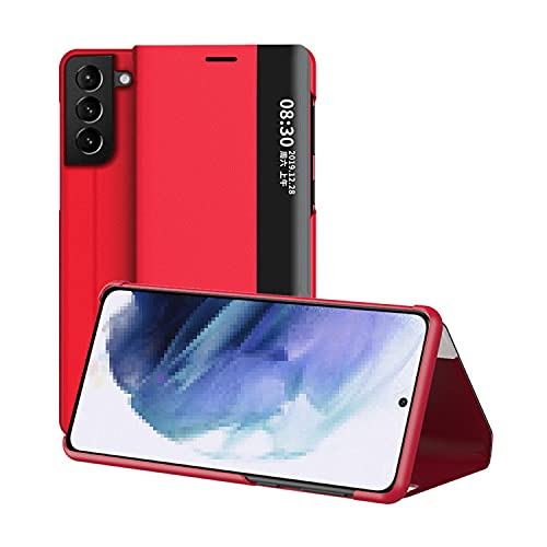 Galaxy S21+ 5G ケース/カバー 二つ折り レザー PU高級レザー スタンド機能 サムスン ギャラクシー S21+ 5G 手帳型レザーケース/カバー スマホケース おしゃれ 人気 スマホカバー スマートフォン ケース カバー[Galaxy S2