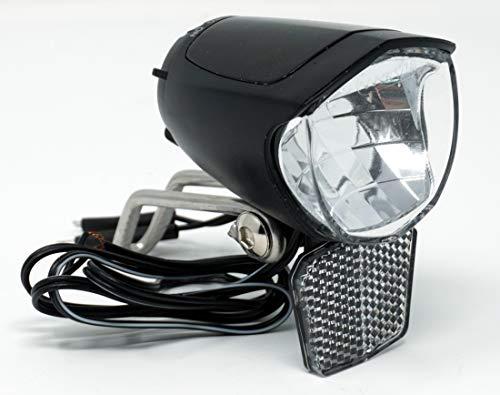CBK-MS LED Fahrrad Frontscheinwerfer 75 Lux Fahrradlicht vorne mit Standlicht und Einschaltautomatic