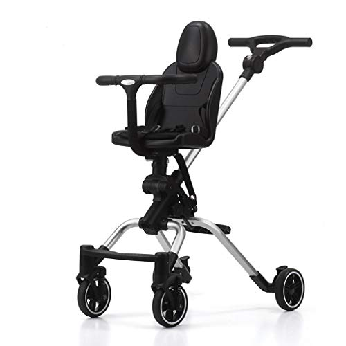 Review Of Baby Stroller Lightweight Bidirectional Foldable Carriage Four Wheels Shock Absorption Str...