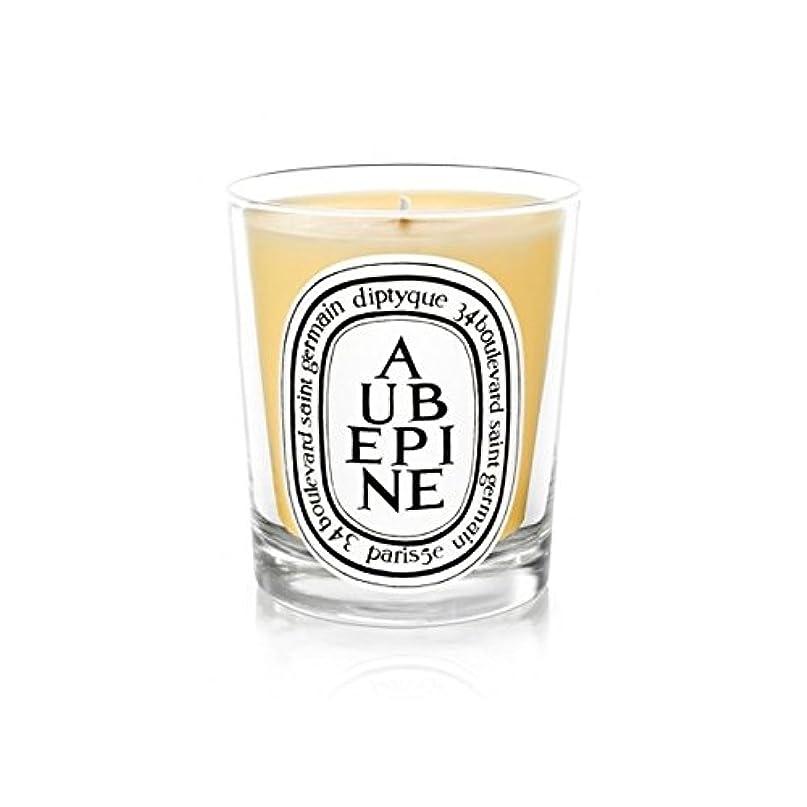 テニス記憶に残るカルシウムDiptyque Candle Aub?pine / Hawthorn 190g (Pack of 6) - DiptyqueキャンドルAub?pine/サンザシ190グラム (x6) [並行輸入品]