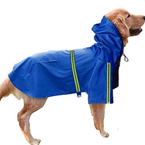Hond regenjas Huisdier Medium Grote Hond Verstelbare Huisdier Waterdichte Kleding Lichtgewicht Regenjas Poncho Hoodies met Strip Reflecterende (Bust34-105cm)