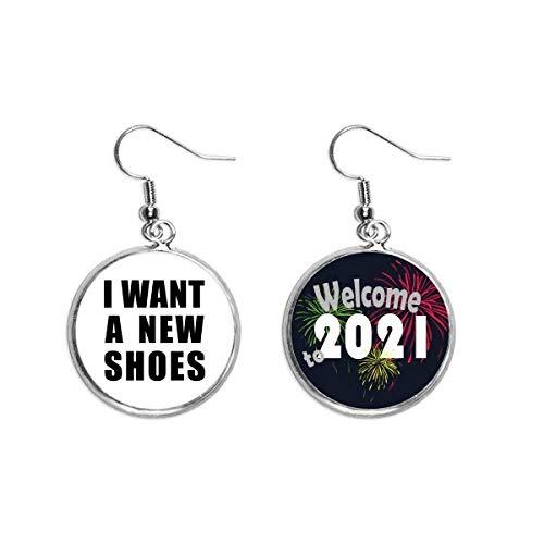 Boucles d'oreilles pendantes I Want A New Shoes Art Déco Cadeau Tendance 2021 Bénédiction