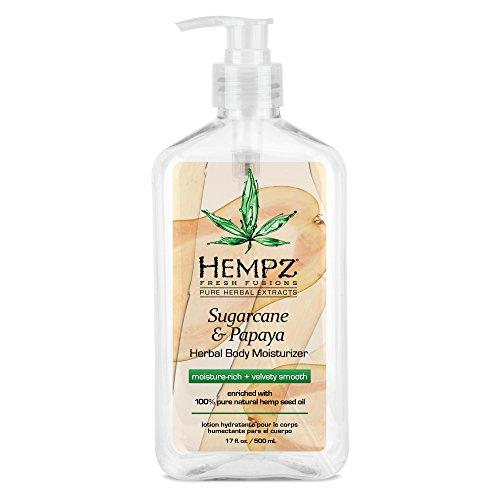 HEMPZ Sugarcane & Papaya Herbal Body Moisturiser (500ml, 17fl oz)