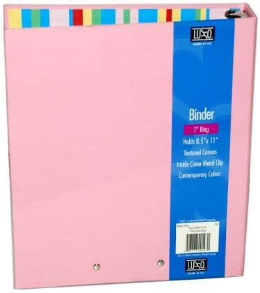 1 Inch Popular At the price of surprise popular 3 Ring Canvas Binders of Case Pink 6