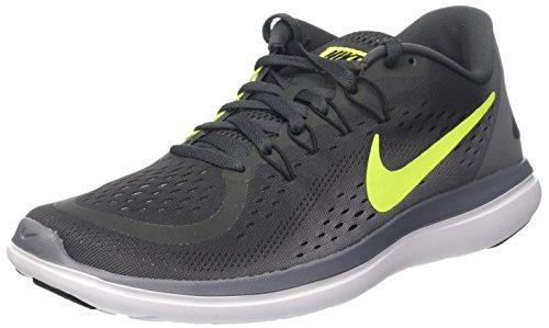 Nike Men's Flex RN 2017 Running Shoe Anthracite/Volt/Cool Grey/Black Size 7.5 M US