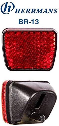 Herrmans hinterrad Reflektor-Br-13 Für Schutzblech, Rot, Einheitsgröße