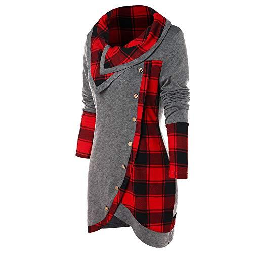 Xmiral Windcheater Sweatshirt Donna Jacket Donna Tuta Blazer Waistcoat Panciotto Donna Piumino Cardigan Cappotto Maglione Camicia Felpe Senza Cappuccio Sweatshirt Hoodie (M,2- Grigio)