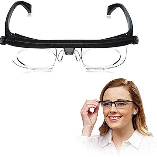 Bril,Lichtgewicht verstelbare sterkte lens, vergrotende bril met verstelbare van dichtbij of veraf Multifocus lenzen voor lezen, breien, draadsnijden