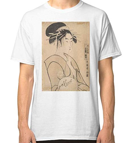 Kitagawa Utamaro The Courtesan Hinakoto of The House of Hyōgo (1795) Classic Tshirt.JPEG