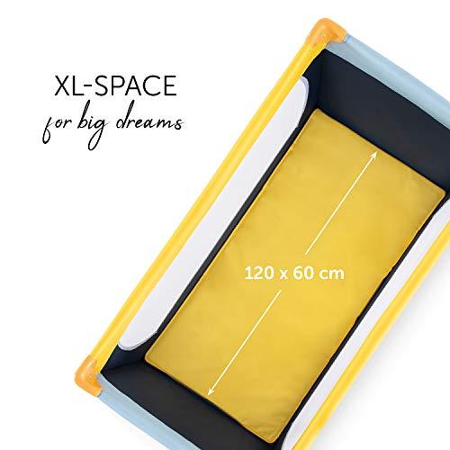 Hauck Kinderreisebett Dream N Play / inklusive Einlageboden und Tasche / 120 x 60cm / ab Geburt / tragbar und faltbar, Mehrfarbig - 5