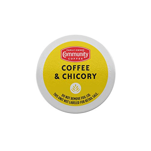Community Coffee & Chicory 72 Count Coffee Pods, Compatible with Keurig 2.0 K-Cup Brewers (12 Count, Pack of 6)