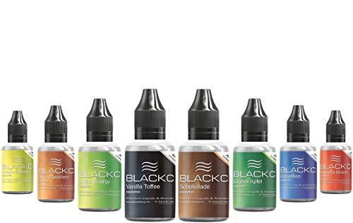 BLACKC Aroma-Konzentrat zum selber mischen von E-Liquid, 50ml Lebensmittel-Aroma für Selbstmischer von Liquid-Base für E-Zigarette & E-Shisha, nikotinfrei, Geschmack Grüner Apfel