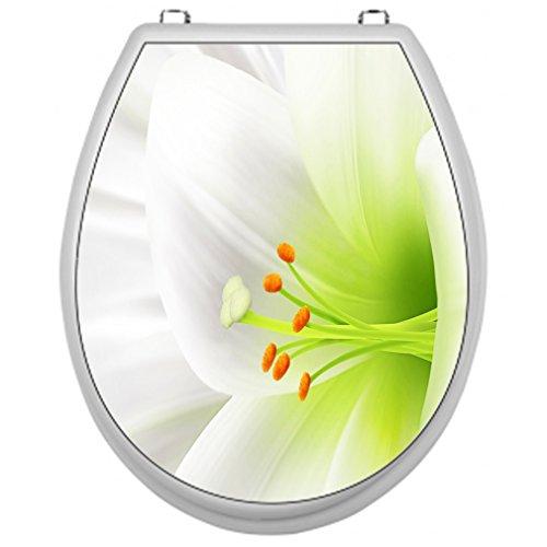 SHIRT-TO-GO Aufkleber für Toilettensitz Klodeckel Aufkleber WC Sitz Aufkleber - Motiv Blüte