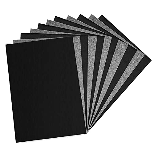 Longtereen 100 Sheets Carbon Paper, Black Graphite Paper for Tracing Patterns onto Wood, Paper, Canvas, and Other Crafts Projects.