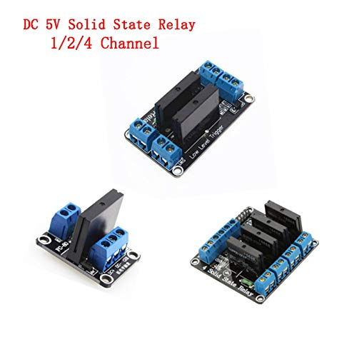CCJW DC 5V Solid State Relais 1/2/4 Kanal Solid-State-Relais-Modul Low Level G3MB-202P 5 V Relais SSR AVR DSP for Arduino DIY-Kit (Size : 4 Channel Relay)