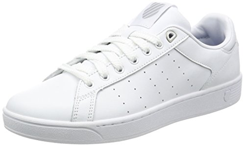 K-Swiss Herren Clean Court Cmf Sneakers, Weiß(White/Gull Gray 131), 45 EU