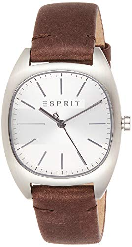 Esprit Herren Analog Quarz Uhr mit Leder Armband ES1G038L0015