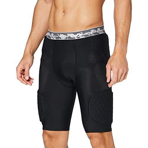 McDavid Hex Pad Wrap Around - Pantalones cortos con amortiguación, color negro, talla L