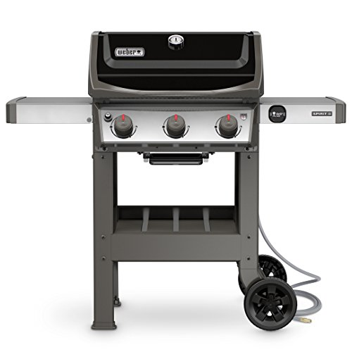 Weber 49010001 Spirit II E-310 3-Burner Natural Gas Grill, Black
