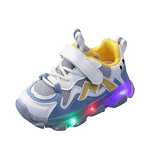 LED Kinderschuhe Sneaker Mädchen 22 Leuchtende Schuhe Jungen Sneaker Kinder Mit Klettverschluss Sportschuhe Baby Blink Schuhe Outdoor Rutschfest Turnschuhe