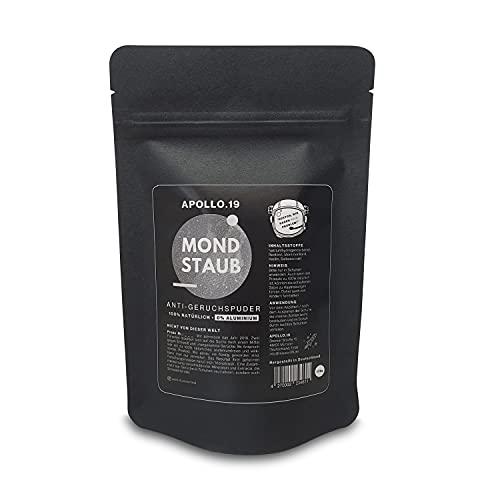 Apollo.19 MONDSTAUB - Schuhpuder gegen Geruch und Schweiß | Schuhdeo aus natürlichen Mineralien ohne Aluminium | Geruchsentferner für Schuhe | 175g Vorteilspackung