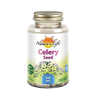 Nature's Life Celery Seed 500 mg | Cardiovascular, Circulation and Brain Health Support Supplement | 100ct from Everready First Aid