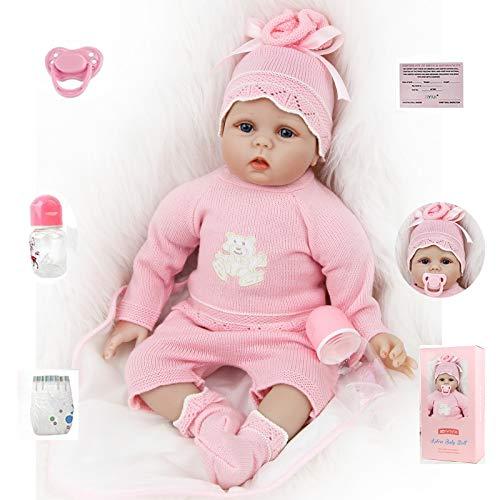 ZIYIUI 22 inch Realistica Bambola Reborn Bambino Bambole Reborn Femmina Silicone Neonato Ragazza Bambini Regalo di Natale 55cm Bambolotti