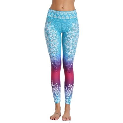QTJY Moda para Mujer Pantalones de Yoga Leggings Delgados de Cintura Alta con Textura Fitness Correr Gimnasio Flexiones Celulitis Pantalones Deportivos B L