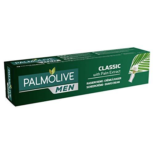 Palmolive Men Rasiercreme Classic mit Palm Extrakt, 1 x 100 ml - pflegender Rasierschaum für normale & empfindliche Haut