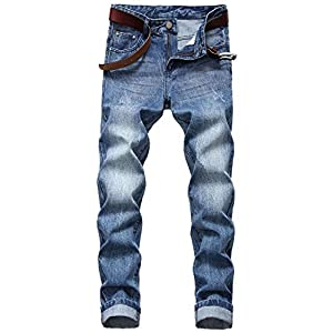 Men's Fashion Stretch Skinny Jeans Comfy Tapered Leg Casual Denim Pants