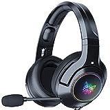 ML S HJDY Auriculares para Juegos,con Sonido Envolvente Estéreo PS4 Gaming Cascos con Micrófono con Cancelación De Ruido Y Luz LED, Compatible con Xbox One PC PS4 Controlador,Negro,RGB Lighting