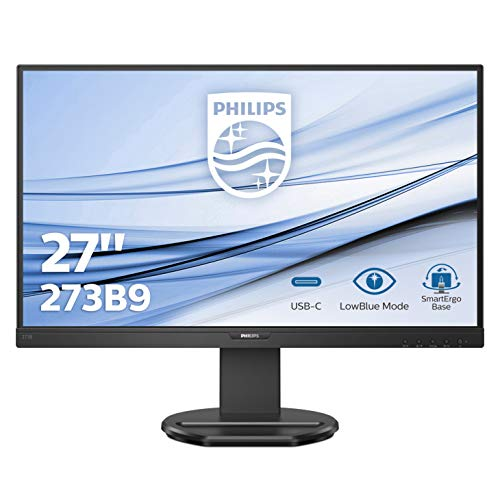 "Monitor Philips 273B9 - Pantalla para PC de 27"" FHD (1920x1080, IPS, 75Hz, 4 ms, AdaptiveSync, Flickerfree, Lowblue, Altavoces, VESA, D-Sub, HDMI, Displayport, USB-C)"