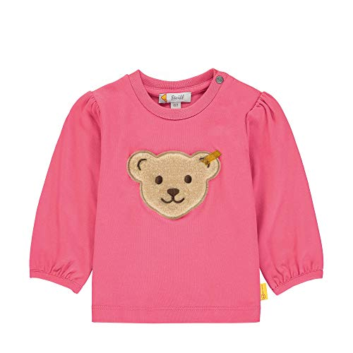 Steiff Baby-Mädchen mit Teddybärmotiv Sweatshirt, Rosa (Pink Dove 2203), 74 (Herstellergröße: 074)