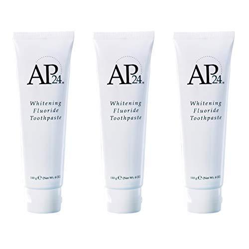 Nu Skin fesjsv AP 24Pasta de dientes con fluoruro blanqueador, 1oo g, paquete de 3