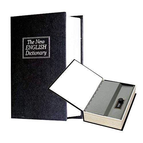 Safe-vormig met beveiligde woordenboek geheime code boek veilig wachtwoord met slot,Black,15.7cm