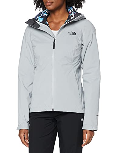 The North Face W Tri Jkt Chaqueta Thermoball Triclimate, Mujer, TNF Light Grey Heather, S