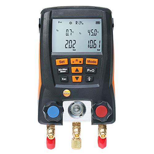 Sistema de climatización Digital Tester Kit, analizador digital del metro del calibrador del manómetro digital LCD Aire Acondicionado Herramientas