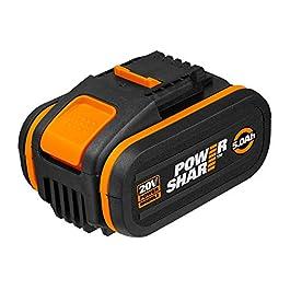 WORX Batterie WA3556 20V – Batterie extrêmement puissante avec indicateur de niveau de charge intégré – Pour tous WORX…