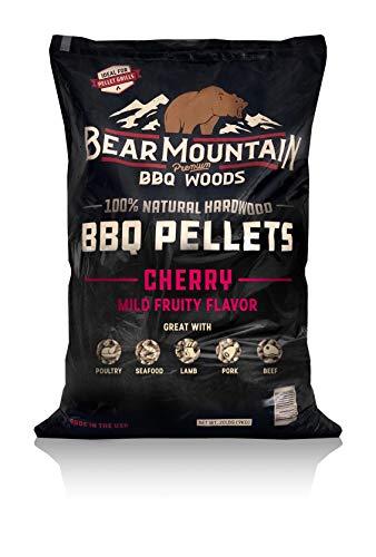 Bear Mountain BBQ 100% All-Natural Hardwood Pellets - Cherry Flavor (20 lb. Bag) Perfect for Pellet...